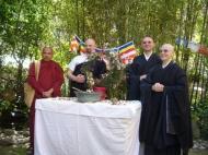 Hamatsuri con Alfredo Daishin Malagodi  del Centro Hui Neng e Dhammarama Thero, abate del Dharmasoka Viharaya di Roma