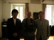 Visita del Rev. Katsutoshi Mizumo,  e del Rev. Shoko Mizutani , Direttore della Rissho Kosei-kai International